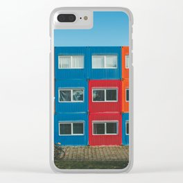 Colorful Container house Amsterdam Clear iPhone Case