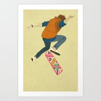 marty mcfly Art Prints featuring McFly by Danny Haas