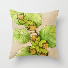 Corylus Avellana Throw Pillow