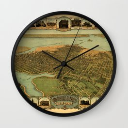 Map Of Oakland 1900 Wall Clock