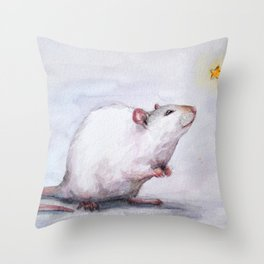 Wishing on a star Throw Pillow