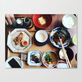 Japanese breakfast Canvas Print