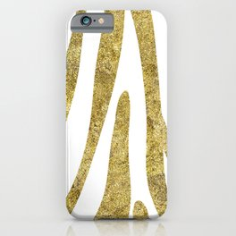 Golden exotics - Zebra and crisp white iPhone Case
