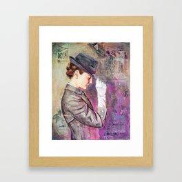 Grey Fedora Framed Art Print