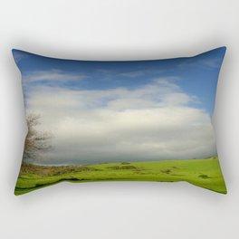 Green pastures & Incoming storm Clouds Rectangular Pillow