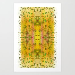 fresh stylized garden Art Print