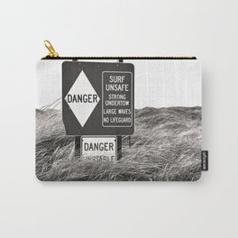 """""""Surf Unsafe, Strong Undertow"""" Beach Access Sign Washington Coast, Pacific Northwest Carry-All Pouch"""
