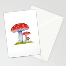 Woodland Toadstools Stationery Cards