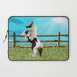 The Vanner Horse On a Heavenly Field of Daisies Laptop Sleeve