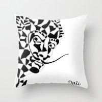dali Throw Pillows featuring Dali by Blake Thornley