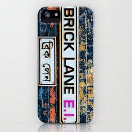 London Brick Lane Sign iPhone Case
