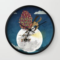 brompton Wall Clocks featuring Flying Bicycle by Wyatt Design