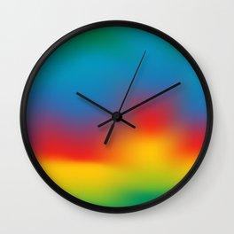Abstract Colorful Aurora Wall Clock