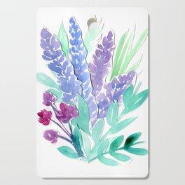 Lavender Floral Watercolor Bouquet Cutting Board