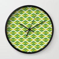 emerald Wall Clocks featuring Emerald by AZRI AHMAD