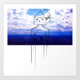 Head in the clouds, so is my house Art Print