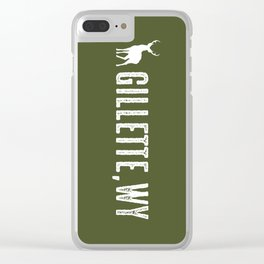 Deer: Gillette, Wyoming Clear iPhone Case