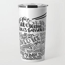 Hand Lettered Taiwanese Food Bowl Travel Mug