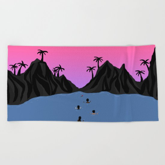 Swim Together Beach Towel
