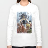 zombies Long Sleeve T-shirts featuring ZOMBIES by Maryne.