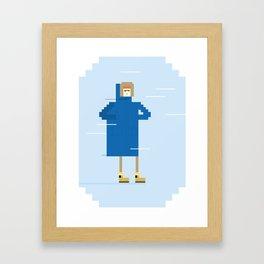 Snow Guy Framed Art Print