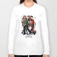 hentai Long Sleeve T-shirts featuring Sirens Gotham city by rainbowarts