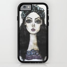 Flower Crown Girl  iPhone Case