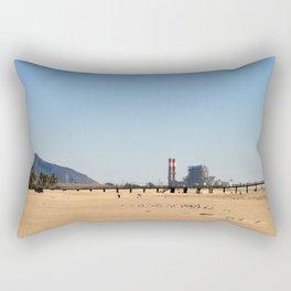 Power Station Beach Rectangular Pillow