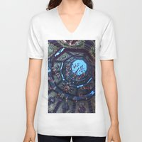 arabic V-neck T-shirts featuring arabic fractal by erosione