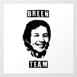 Breen Team Art Print