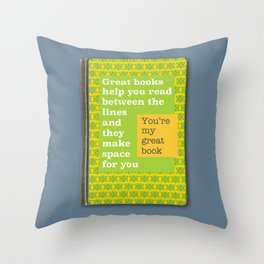 Great books like you Throw Pillow
