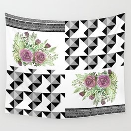 Rustic patchwork 5 Wall Tapestry