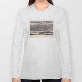 Aero View of Windsor Locks, Connecticut (1913) Long Sleeve T-shirt