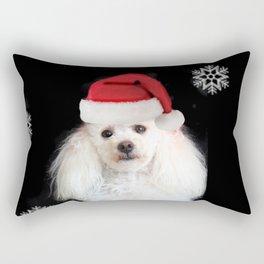 Christmas poodle dog Rectangular Pillow