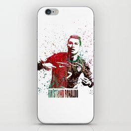 Sports painting  _ Ronaldo iPhone Skin
