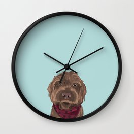 Remington the Wirehaired Pointing Griffon Wall Clock