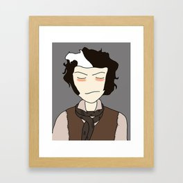 Sweeney Todd-  illustration print Framed Art Print
