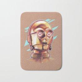 Golden Robot C3PO Bath Mat