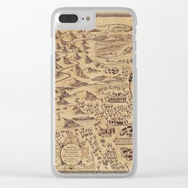 Marauder's Map (complete) Clear iPhone Case