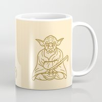 yoda Mugs featuring Yoda by Roland Banrevi