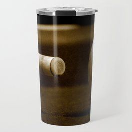 Pool Table-Sepia Travel Mug