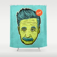 science Shower Curtains featuring Science 4ever by Lime