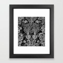 The Kraken (Black & White - NoText, Alt.) Framed Art Print
