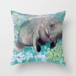 Sea Cow Throw Pillow