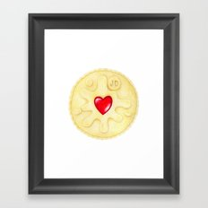 Jammie Dodger, Biscuit Framed Art Print