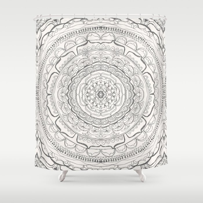 Black U0026 White Lace Shower Curtain