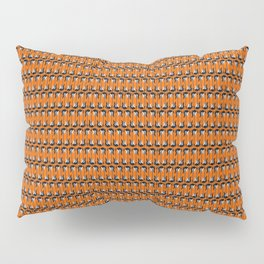 Guitars (Tiny Repeating Pattern on Orange) Pillow Sham