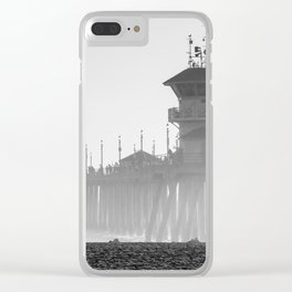 Huntington Beach Pier Clear iPhone Case