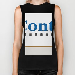 Plane Tees - Continental Airlines Biker Tank