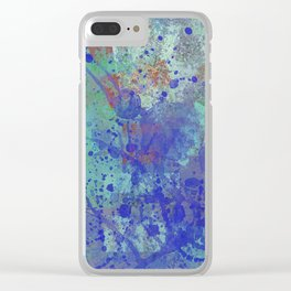 Paint Splatter Abstract Clear iPhone Case